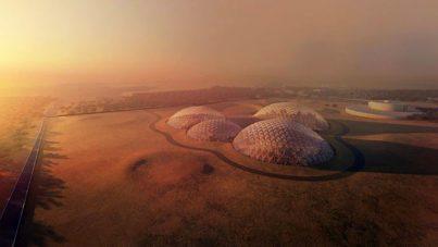 Así será la enorme ciudad marciana en el desierto árabe