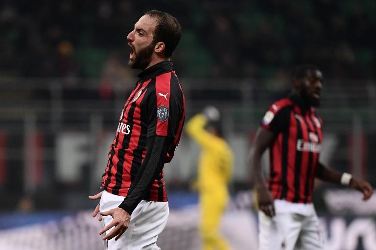 Gonzalo Higuaín rompe su sequía y la mala racha del Milan
