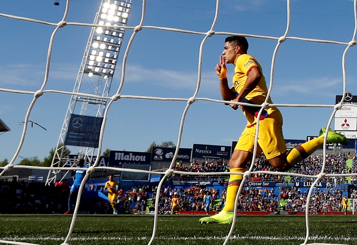 0-2. Luis Suárez rompe la maldición lejos del Camp Nou