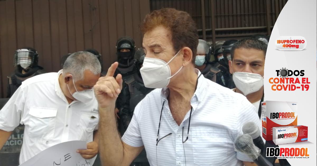 """Nasralla exige la inscripción de """"Salvador de Honduras""""; y yo solo gano las elecciones, porque el pueblo está conmigo"""""""