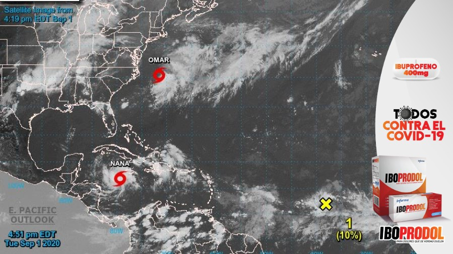 Tormenta tropical Nana se puede convertir en huracán cuando llegue hoy a Belice