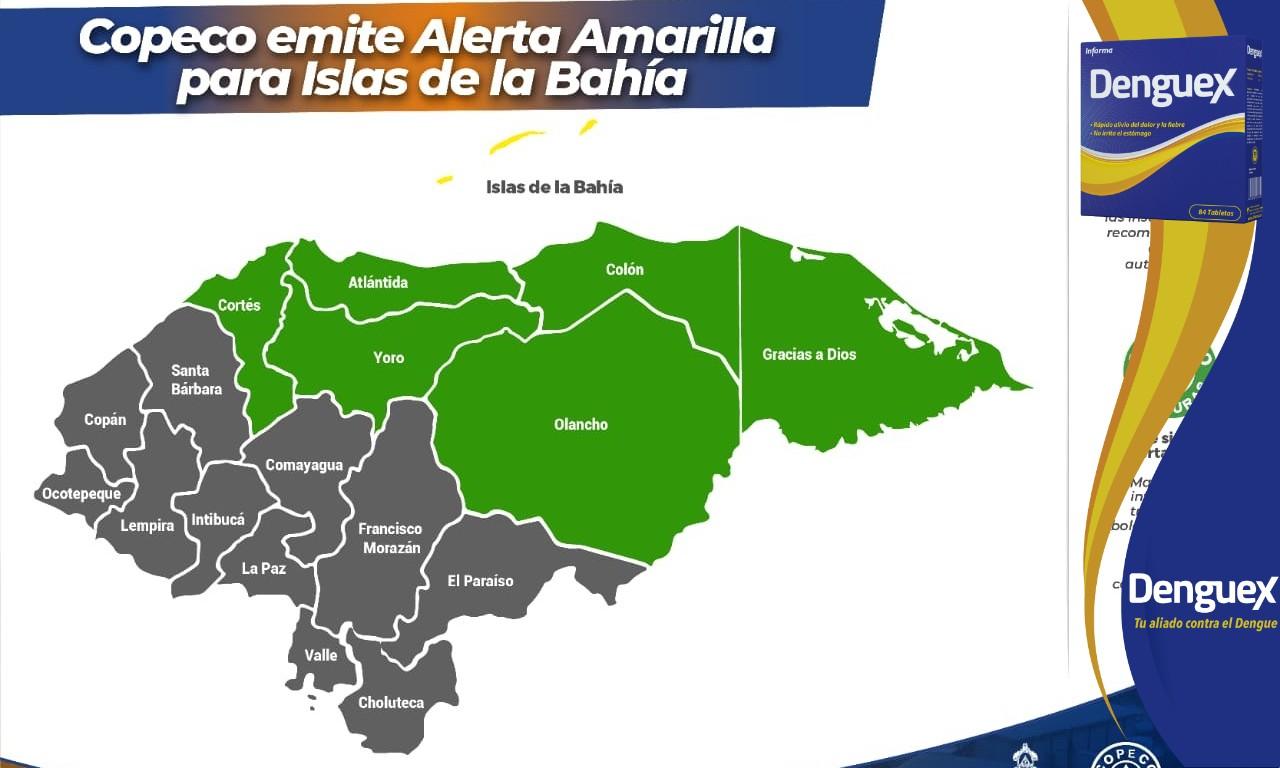 Copeco emite alerta amarilla para Islas de la Bahía por tormenta tropical Nana