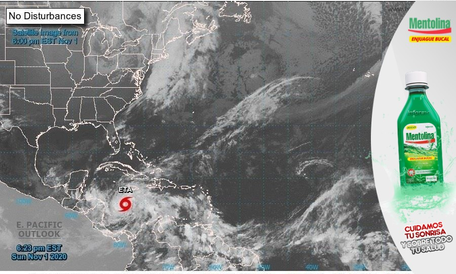Nicaragua también se alista para recibir impacto del huracán Eta en categoría 2