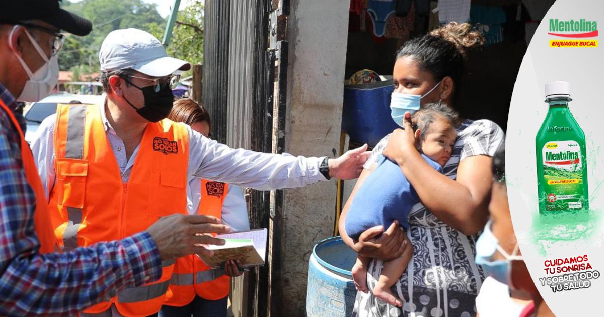 Mandatario Hernández continúa con sus giras para evaluar daños provocados por huracanes Iota y Eta