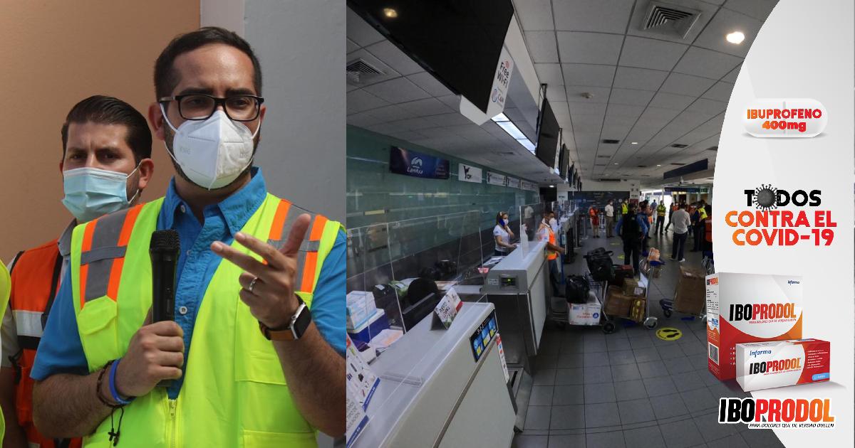 """Marco Midence: """"Estamos listos con aeropuerto Golosón, para que reciba permanentemente vuelos internacionales"""""""