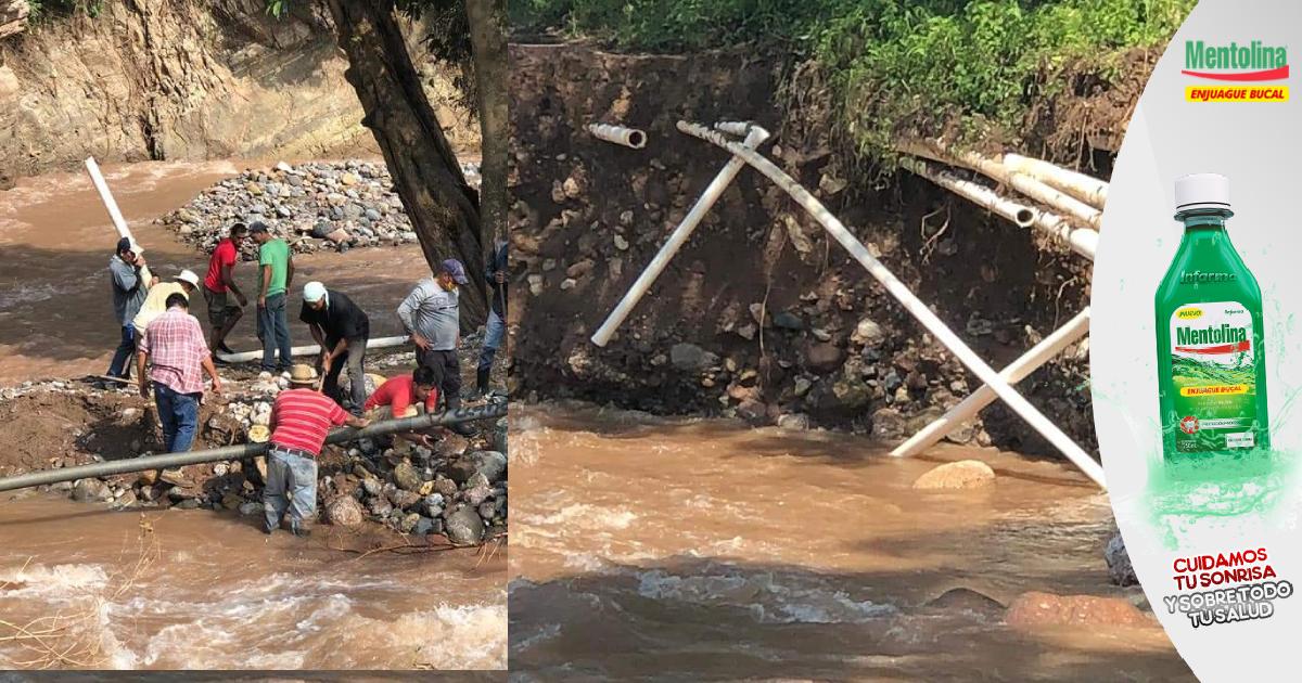 Municipios de Santa Bárbara en situación difícil por carencia de agua potables y destrucción de carreteras por los huracanes