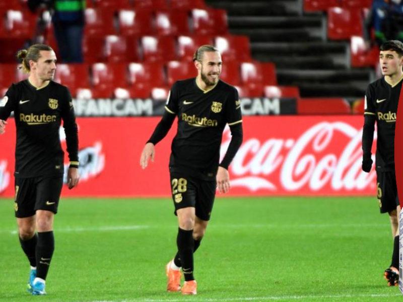 Griezmann y Messi lideran al Barcelona con goleada al Granada