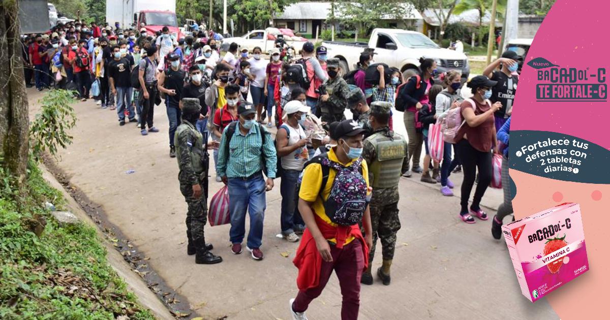 Honduras registra que 78 inmigrantes de caravana retornaron desde Guatemala