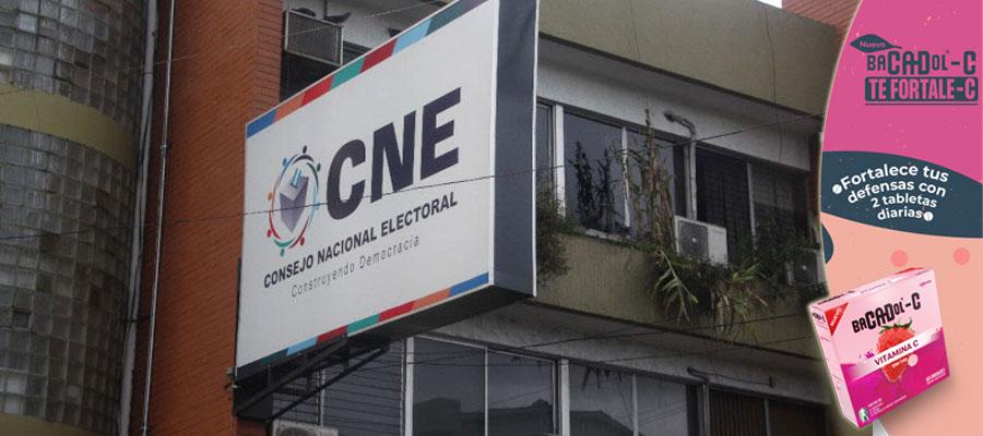 CNE en las primarias no sancionará a candidatos morosos con el Estado, pero si en elecciones generales