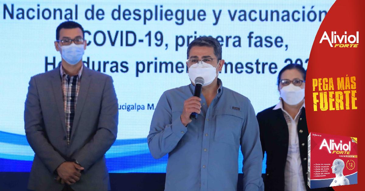 Presidente Hernández: Liderazgo del Cohep desconoce capacidad del sistema de vacunación de Honduras