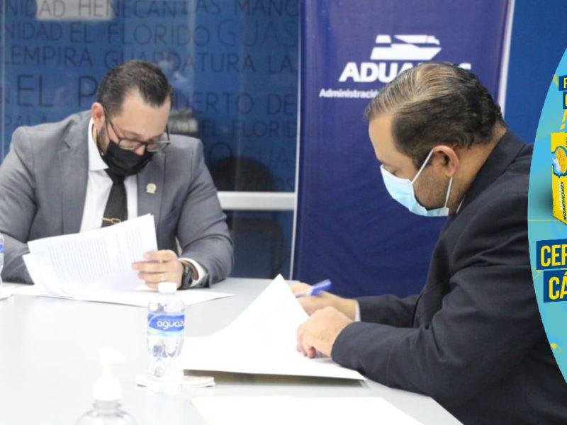 Aduanas Honduras y SENASA firman convenio para coordinación y control de mercancías y procedimiento y fitosanitarios
