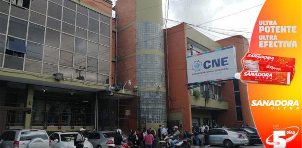 El CNE oficializa solicitud para inscripción de 34 candidaturas independientes