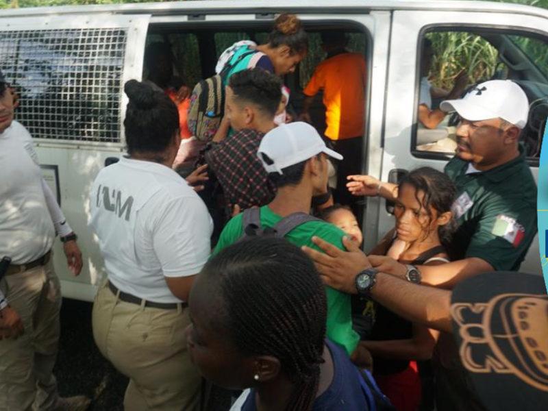 Detienen a 194 migrantes provenientes de Honduras, El Salvador y Guatemala en el sureste de México