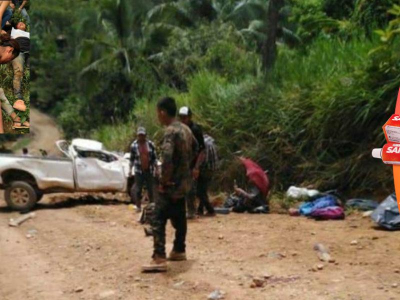 Tres muertos y 17 heridos en accidente vial en zona montañosa de Catacamas