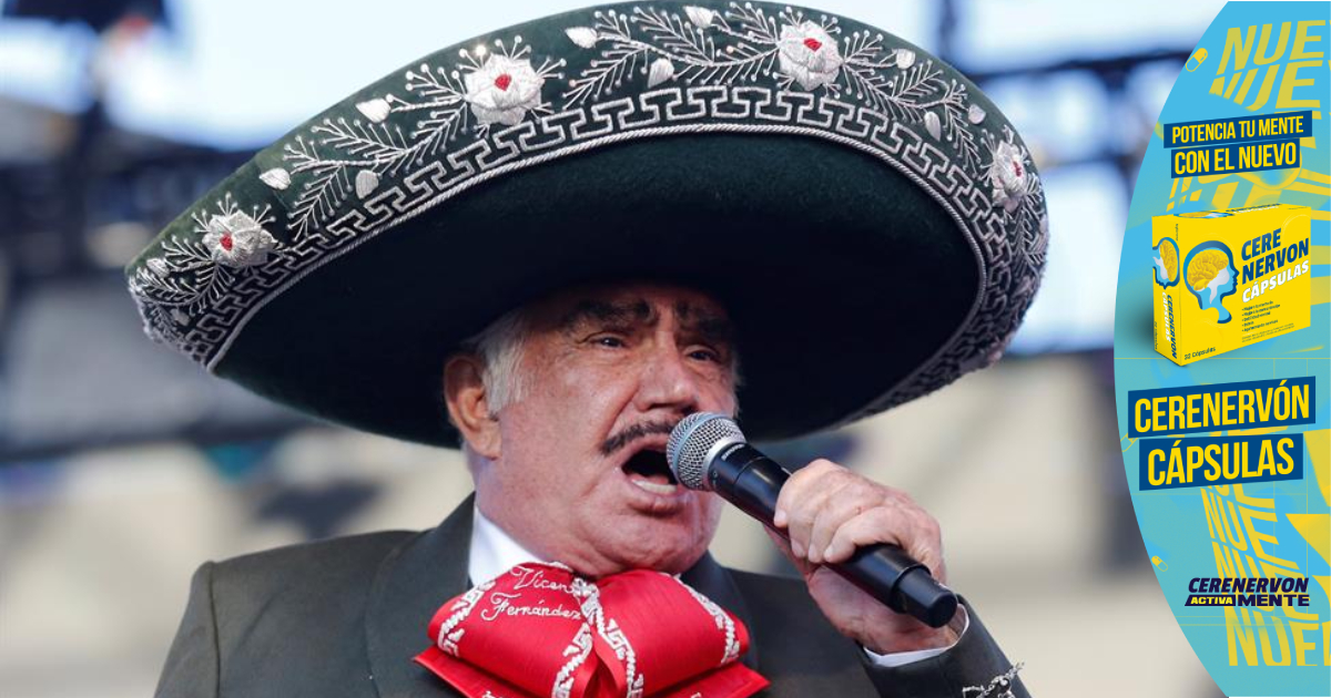 Vicente Fernández se recupera de caída con respirador de soporte