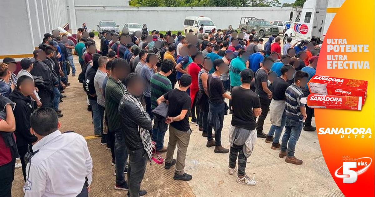 Interceptan a 334 migrantes en el estado mexicano de Veracruz